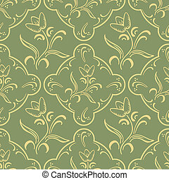 Seamless pattern - Vintage vector seamless pattern with...