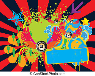 abstract fun party banner - abstract vector illustration...