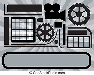 Abstract technic background - abstract illustration on...