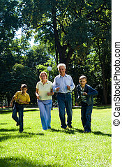 family at the park