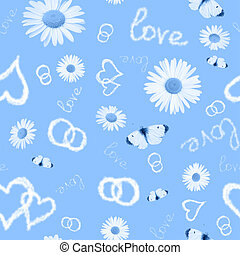 Seamless blue background - Beautiful a blue background with...