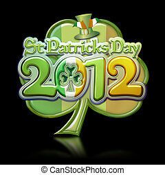 St Pats Day Clover 2012 Graphic b - St Patricks Day 2012...
