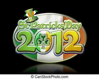 St Pats Day Oval Graphic 2012 b - St Patricks Day 2012 Oval...