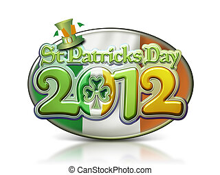 St Pats Day Oval Graphic 2012