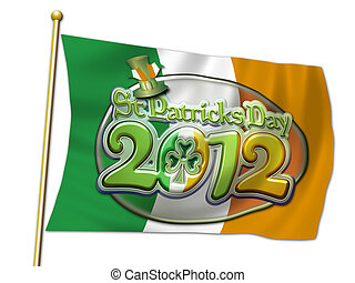St Pats Graphic Oval flag 2012