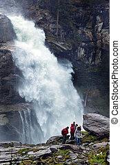 krimmel waterfalls in austria - the krimmel waterfalls in...