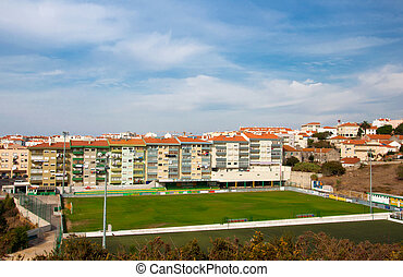 Football ground in the yard near the house of Portugal...