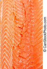 Fresh Salmon Filet - A fresh, pink atlantic salmon filet...