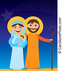 jesus mary and joseph - jesus mary and joseph in the night...