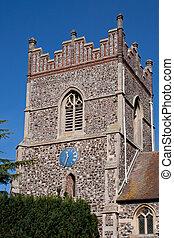 Church Clock - A church clock on a tower