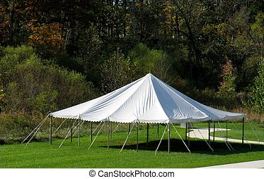 white canopy tent - an outside white canopy tent which can...