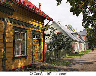 Estonian wooden houses