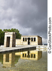 The temple Debod - The ancient Egyptian temple Debod...