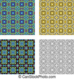 Pattern set 2 - The same pattern in four different colours.