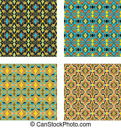 Pattern set 5 - The same pattern in four different colours.