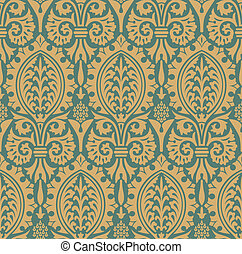 Classic seamless pattern yellow in editable vector file
