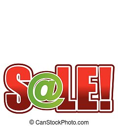 Sale with at sign illustration