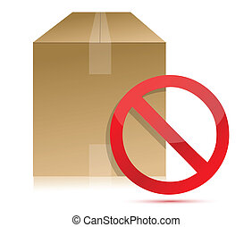 Shipping box with don't sign