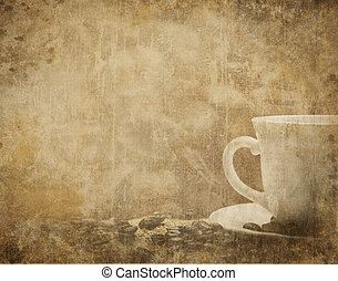 Vintage Coffee Background - Vintage coffee background with...