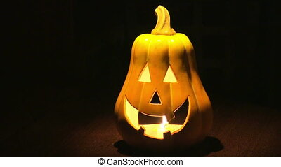 Halloween pumpkins - Halloween concept with candles