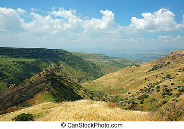 Israeli national park Gamla fortress at the Golan Hights -...