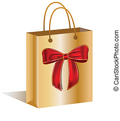 Shopping bag with a bow