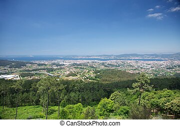 landscape of Vigo city - great and scenic landscape of Vigo...