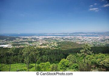 landscape of Vigo city - great and scenic landscape of Vigo...