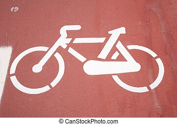 bikers way paint sign