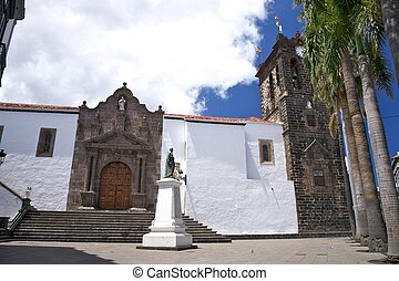 El Salvador church at La Palma in Canary Islands Spain