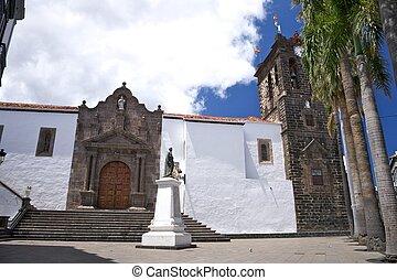 El Salvador church at La Palma in Canary Islands Spain