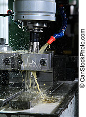 Operation of shaping metal piece machine
