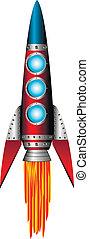 Starting red rocket