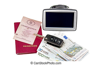 travel fund - navigation system and money