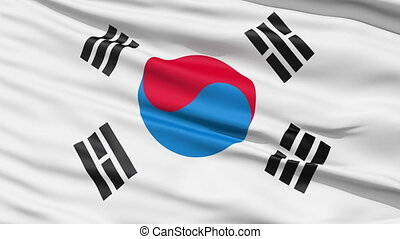 The South Korea Flag - The South Korea waving flag called...