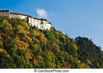 Rasnov Fortress - Medieval fortress in Rasnov, Transylvania...