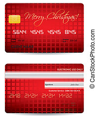 special Christmas credit card design