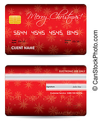 special credit card with Christmas design