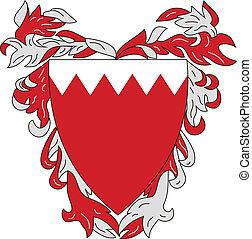 bahrain - Vector coat of arms of Bahrain