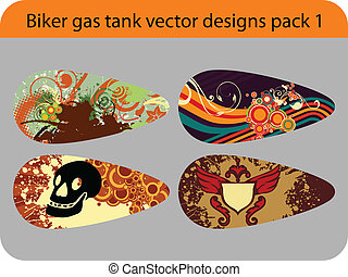 biker gas tank - pack of various illustration for bike gas...