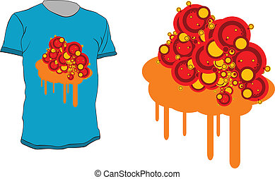 t-shirt design - Colorful abstract t-shirt design