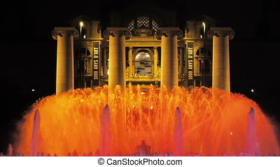 Singing fountains, Barcelona, Spain