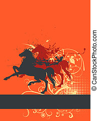 creative design horses - Abstract creative design...