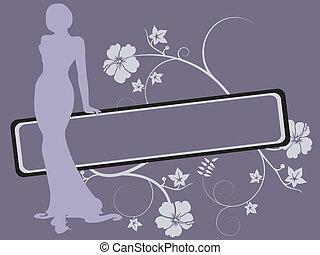 women silhouette - Vector illustration of elegance women...