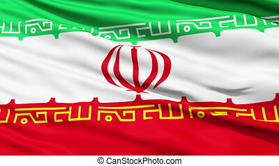 The Flag of Iran - National waving Flag of Iran with an...
