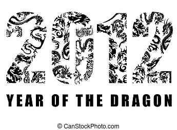 2012 Chinese Year of the Dragon Pattern