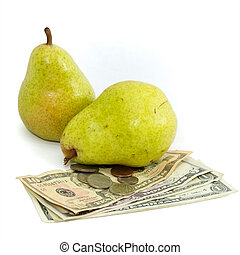 cost of food pears and money