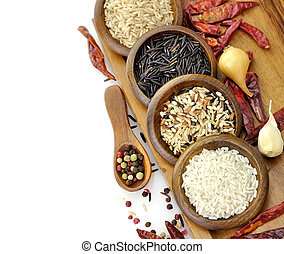 Raw Rice Assortment