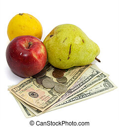 high cost of food fruit and money