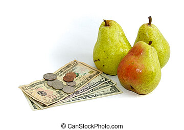 high food costs pears and money